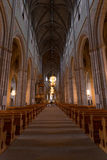 The nave of Uppsala Cathedral Royalty Free Stock Images