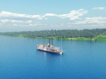 Nave a vapore del Mississippi Fotografia Stock
