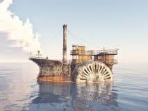 Nave a vapore di fantasia illustrazione vettoriale