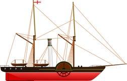 Nave a vapore di Sirius royalty illustrazione gratis