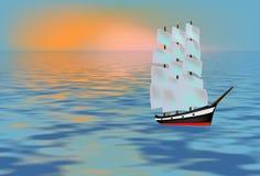 Nave vieja stock de ilustración