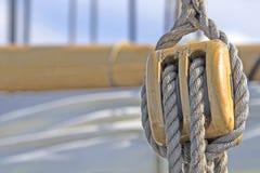 Nave vieja-fasihioned de la vela. Detalle. Foto de archivo libre de regalías