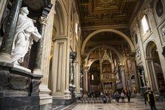 Nave w bazylice St John Lateran w Rzym Włochy Fotografia Stock
