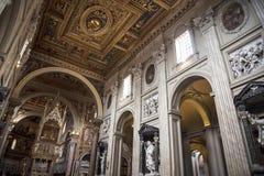 Nave w bazylice St John Lateran w Rzym Włochy Zdjęcie Stock