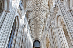 The nave of Winchester Cathedral Royalty Free Stock Photos