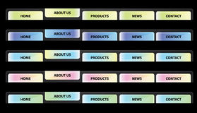 Navegação da tecla do Web site - vetor Foto de Stock Royalty Free