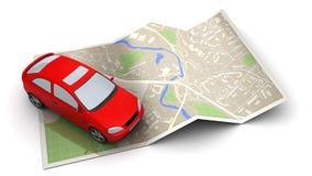 Navegação do carro ilustração royalty free