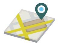 Navegação do mapa Foto de Stock
