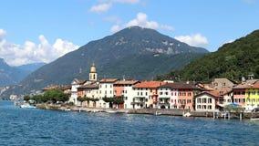 Navegação no lago Lugano no verão, vídeo Cantão de Lugano, Ticino, Suíça vídeos de arquivo