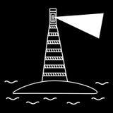 Navegação velha do mar do farol Foto de Stock Royalty Free