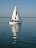 Navegación-barco en el balaton fotografía de archivo
