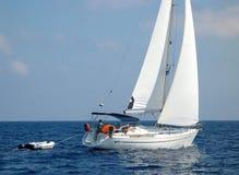 Navegación cerca de Corfú Fotos de archivo