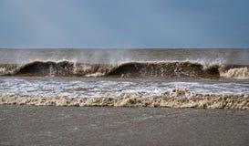 Navegación de Kart en la playa imagenes de archivo