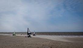 Navegación de Kart en la playa imagen de archivo libre de regalías