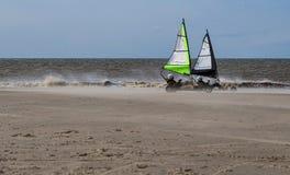Navegación de Kart en la playa imágenes de archivo libres de regalías