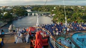 Navegación de la brisa del carnaval lejos del La Romana, República Dominicana Fotos de archivo libres de regalías