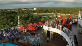 Navegación de la brisa del carnaval lejos del La Romana, República Dominicana Foto de archivo libre de regalías