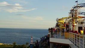 Navegación de la brisa del carnaval lejos del La Romana, República Dominicana Fotografía de archivo