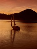 Navegación de la puesta del sol Fotografía de archivo libre de regalías