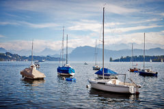 Navegación de los barcos Imagen de archivo libre de regalías