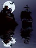 Navegación de Víspera de Todos los Santos ilustración del vector