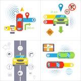 Navegación del coche Concepto de la navegación GPS ilustración del vector