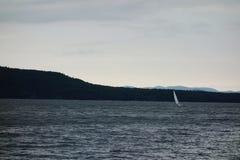 Navegación del día tempestuoso Fotografía de archivo