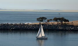 Navegación del puerto de Newport Imágenes de archivo libres de regalías