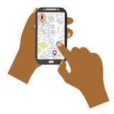 navegación del teléfono móvil Fotos de archivo libres de regalías
