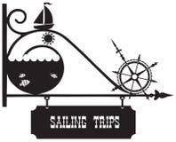 Navegación del viaje del indicador de la calle Fotografía de archivo libre de regalías
