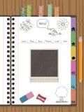 Navegación del Web del cuaderno Imagen de archivo