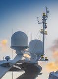 Navegación del yate y sistema del radar Imágenes de archivo libres de regalías