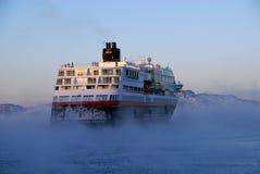 Navegación en aguas frías Fotos de archivo libres de regalías