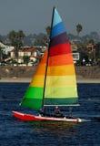Navegación en bahía de la misión Fotografía de archivo