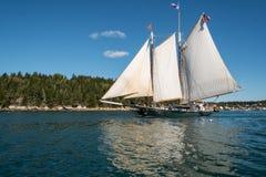 Navegación en bahía de Penobscot Imagen de archivo