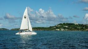 Navegación en el Caribe Fotos de archivo libres de regalías
