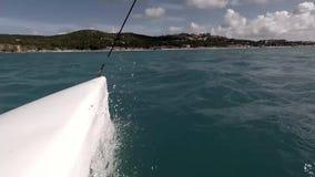 Navegación en el océano almacen de metraje de vídeo