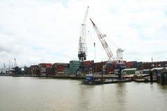 Navegación en el puerto de Rotterdam Fotos de archivo libres de regalías