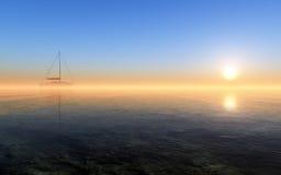 Navegación en la puesta del sol de la fantasía libre illustration