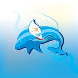 Navegación en las ondas en el delfín Imagen de archivo libre de regalías