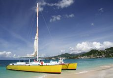 Navegación en paraíso Foto de archivo libre de regalías