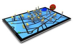 Navegación GPS en Tablet PC libre illustration