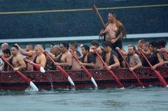 Navegación maorí de la herencia del waka en Auckland, Nueva Zelanda Imagen de archivo