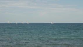 Navegación marina de la regata almacen de metraje de vídeo