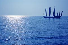 Navegación típica de la nave del chino Imagen de archivo