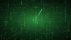 Navegación a través de conexiones digitales Concepto de la realidad virtual y de la inteligencia artificial