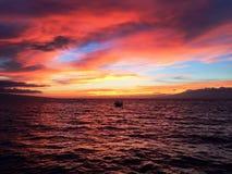 Navegación y puestas del sol Imagenes de archivo
