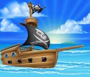 Navegación del barco pirata Fotos de archivo libres de regalías