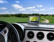 Navegador auto de los gps Imagen de archivo
