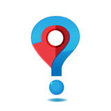 Navegador Checkin Question Symbol Logo Vector Fotografía de archivo